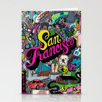 san francisco Stationery Cards featuring San Francisco by Chris Piascik
