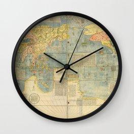 Matteo Ricci - Kunyu Wanguo Quantu / A Map of the Myriad Countries of the World - Globe (1602) Wall Clock