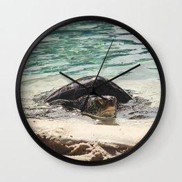 Sandy Slumber Wall Clock