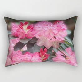Dreamy Pink Rhododendrons Rectangular Pillow