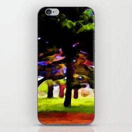 Landscape with Leaning Trees iPhone Skin