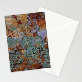 Earthy Stone With Mossy Rock Lichen Texture Stationery Cards