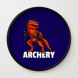 dinosaur archery Archer arrow and bow Wall Clock