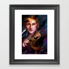 Fear Wakes You Up Framed Art Print