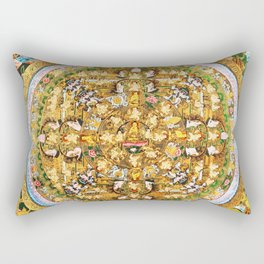 Buddhist Mandala 50 Buddhist Teachings Rectangular Pillow