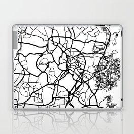 KUALA LUMPUR MALAYSIA BLACK CITY STREET MAP ART Laptop & iPad Skin