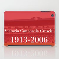 arsenal iPad Cases featuring Highbury (Red) by Tom Cronin