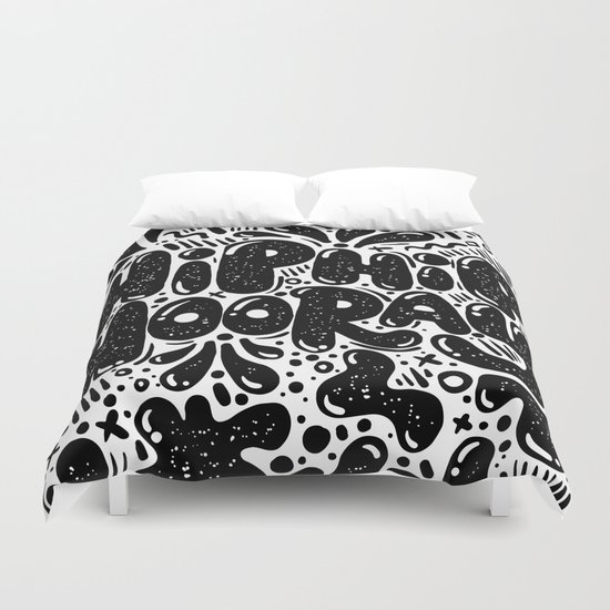 HIP HIP HOORAY Duvet Cover