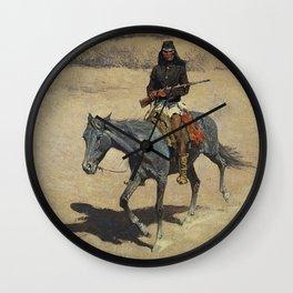 "Frederic Remington Western Art ""Apache Scout"" Wall Clock"