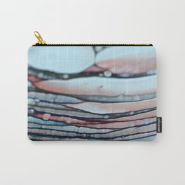 Abstract Blue & Red Lines Carry-All Pouch