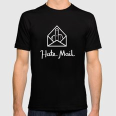 hate mail Black MEDIUM Mens Fitted Tee