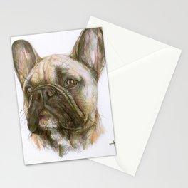 French bulldog original art print Stationery Cards