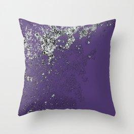 Purple Mold Throw Pillow
