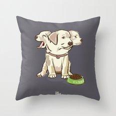 Cerberus Puppy Throw Pillow