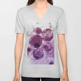 Purple Watercolor Spots Unisex V-Neck