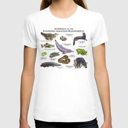 Animals of the Flooded Amazon Rainforest T-shirt