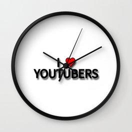 I LOVE YOUTUBER Wall Clock