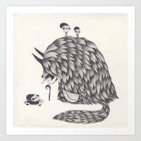 la Art Prints featuring la chasse by yohan sacre
