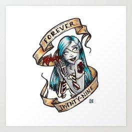 Forever 29 Zombie Girl Art Print