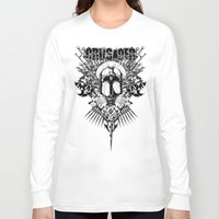 medieval Long Sleeve T-shirts featuring Medieval Crusader by Tshirt-Factory