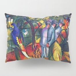 Hyacinth Macaw and Zoological Garden by August Macke Pillow Sham