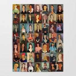Amadeo Modigliani Montage Poster