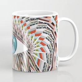 Origami Chakra Eye - Aqua Marine Blue Coffee Mug