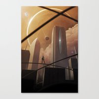 skyline Canvas Prints featuring Skyline by Jonathan Maurin / Aeon-Lux
