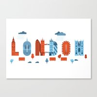 london Canvas Prints featuring London by aWharton