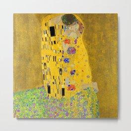 Gustav Klimt The Kiss II Metal Print