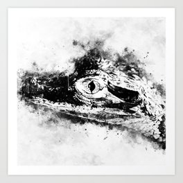 alligator baby eye wswbw Art Print