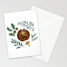 Sleepy Squirrel Stationery Cards