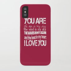 You Are My Valentine iPhone X Slim Case