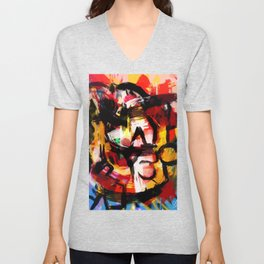 Abstraction Lyrique avec vitesse Unisex V-Neck
