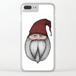 Christmas Gnome Clear iPhone Case