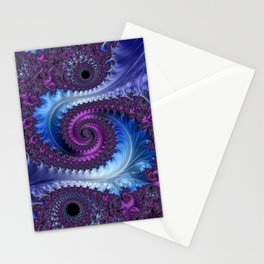 Feathery Flow - Fractal Art Stationery Cards