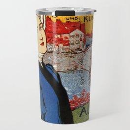 German artisanal art expo Dresden 1896 Travel Mug