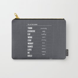 Lab No. 4 - Fill in the blanks.. Exercise timetable schedule Inspirational Quotes Poster Carry-All Pouch