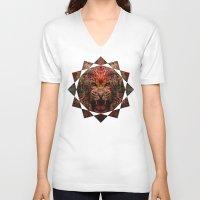 jaguar V-neck T-shirts featuring Jaguar by Zandonai