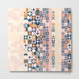 Decorative ornament of geometric shapes. Colorful geometric pattern. Geometric colorful background Metal Print