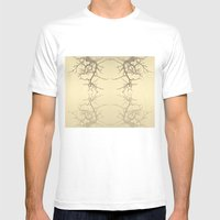 branches#06 Mens Fitted Tee MEDIUM White