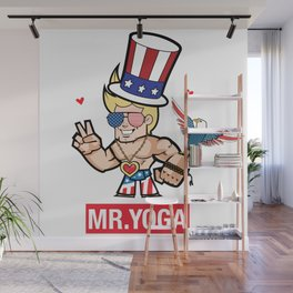 Mister Yoga - Happy 4th of July with Eagle Wall Mural