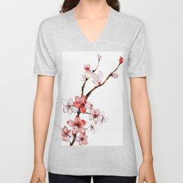 Cherry blossom 2 Unisex V-Neck