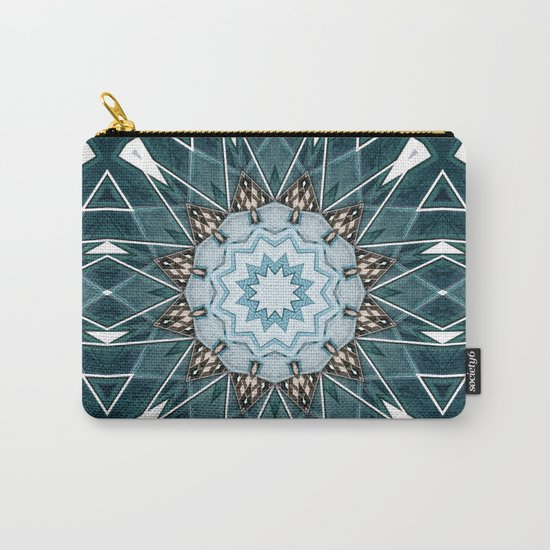 Structural Turquoise Mandala Carry-All Pouch