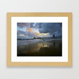 HB Sunsets  5/7/15   Huntington Beach, CA Framed Art Print