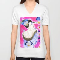 third eye V-neck T-shirts featuring Third Eye by Fabsdolls