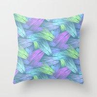grass Throw Pillows featuring Grass by Emerald Vallee