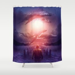 The Space Between Dreams & Reality Shower Curtain