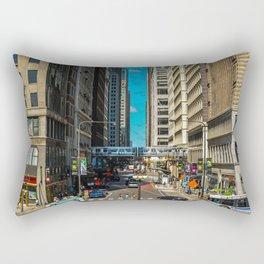 Cartoony Downtown Chicago Rectangular Pillow