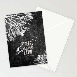 The Trees Speak Latin - Raven Boys Stationery Cards